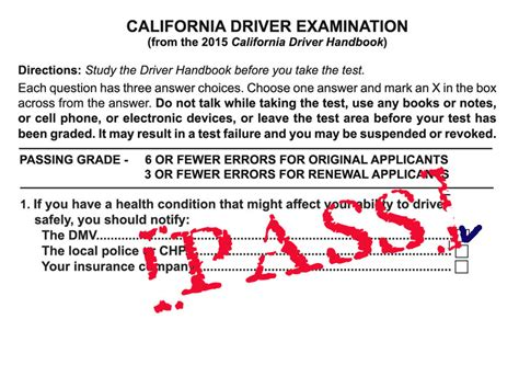 dmv 500 sle test questions dmv california drivers handbook handbook 2018 2017 2016 2015 books passing scores in all states copyright driversprep