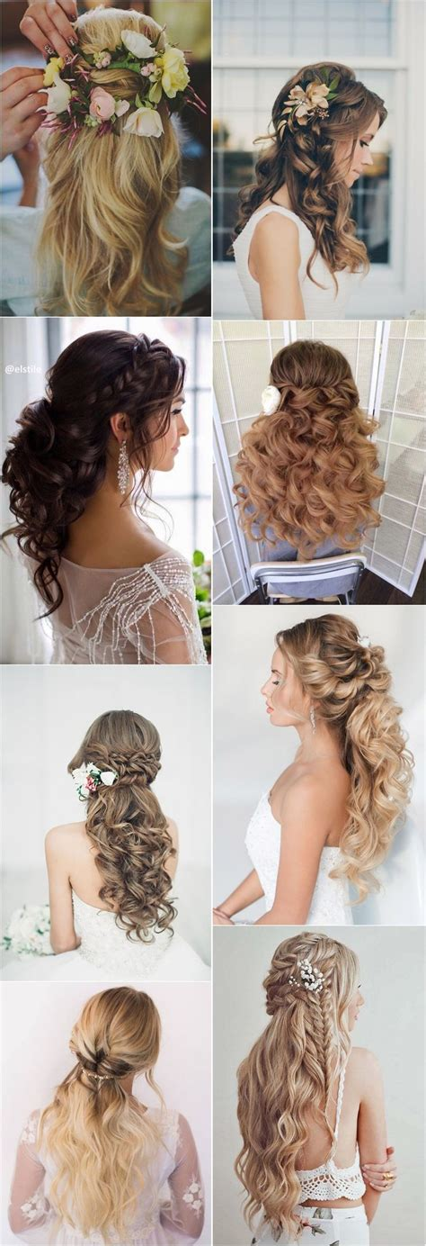 bridal hair half up tutorial best hair style for 40 stunning half up half