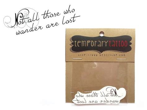 Lolitattoo Temporary Wander Lost not all those who wander are lost temporary nerdy but still girly