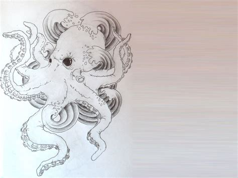 sketch tattoo octopus sketch