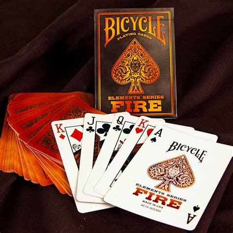 bicycle fire playing cards elements series pse uk