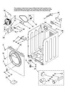 Amana Clothes Dryer Parts Amana Residential Dryer Cabinet Parts Model Ned7200tw10
