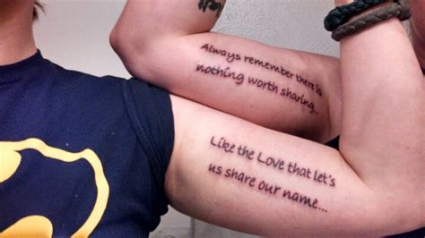Tattoo Quotes For Brother And Sister | brother and sister tattoo quotes quotesgram