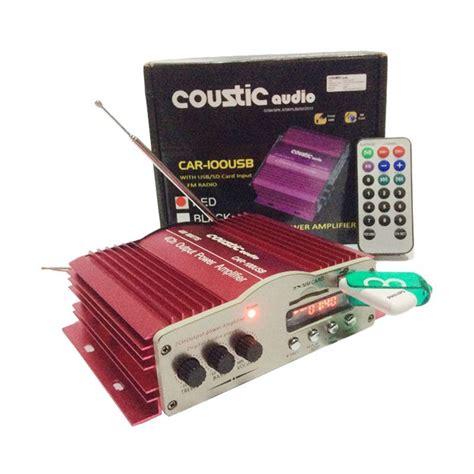 Power Usb 4 Ch Coustic Audio 778 Usb Mosfet jual coustic audio car 100usb lifier mobil