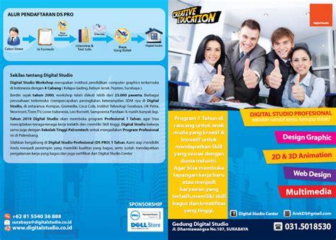 desain brosur kursus contoh brosur sekolah