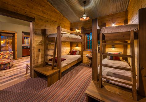 Corrugated metal ceiling ideas bedroom rustic with timber bunk beds wood walls site milled wood