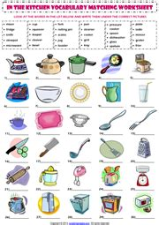 Japanese Kitchen Vocabulary Kitchen Vocabulary Esl Printable Worksheets And Exercises