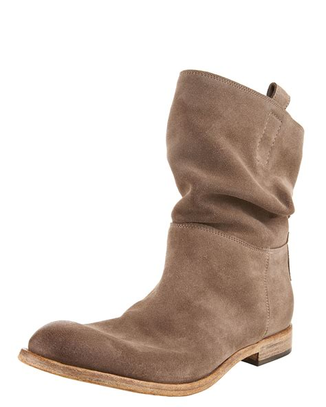 slouchy ankle boots alberto fermani slouchy suede ankle boot in brown lyst