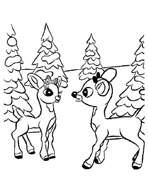 comet and rudolph coloring pages hellokids com