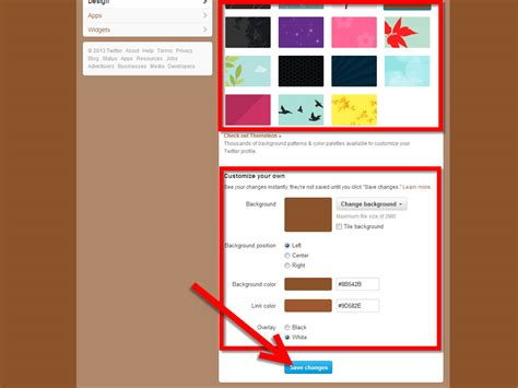 change layout on twitter how to change your background on twitter 12 steps