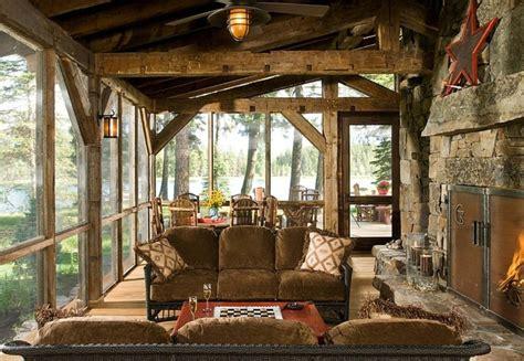 Southern Home Plans With Wrap Around Porches by Chalet En Bois 224 L 226 Me Tr 232 S Rustique Vivons Maison