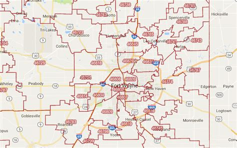 My Search Indiana Zip Code Map Fort Wayne In Zip Code Map