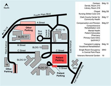 Vancouver Campus Map   VA Portland Health Care System