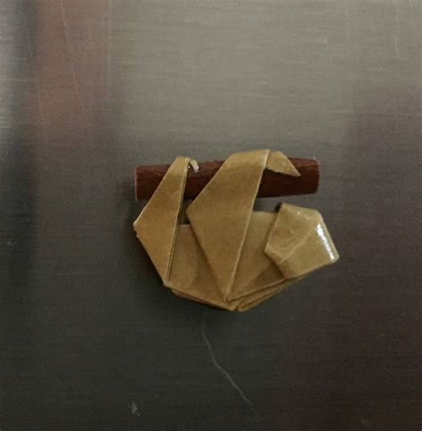 origami sloth origami sloth refrigerator magnet sloth magnet sloth
