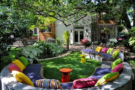 fun backyard private residence fun backyard retreat eclectic