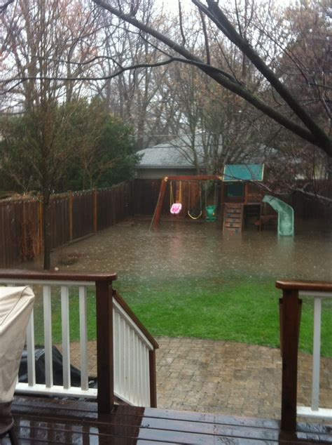 backyard flooding twoinspiredesign two friends two design perspectives