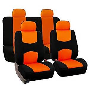 Car Seat Covers Orange And Black Qty 1 2 3 4 5