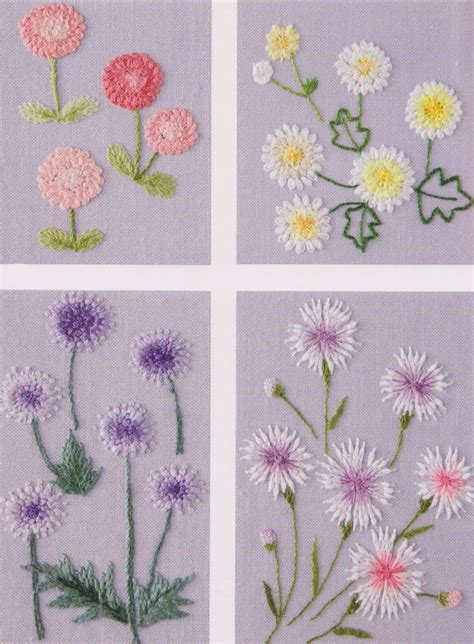 Handmade Embroidery Designs - flower in my garden embroidery stitch sewing applique