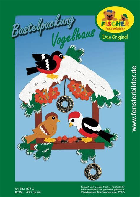 bastelvorlagen weihnachten fensterbilder kinder fensterbild bastelvorlage vogelhaus fischer fensterbilder