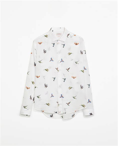 Zara Bird by Zara Bird Print Cotton Voile Shirt Mÿ štÿłę
