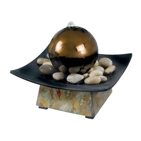 kenroy home sphere indoor 8 in tabletop fountain 50235sl