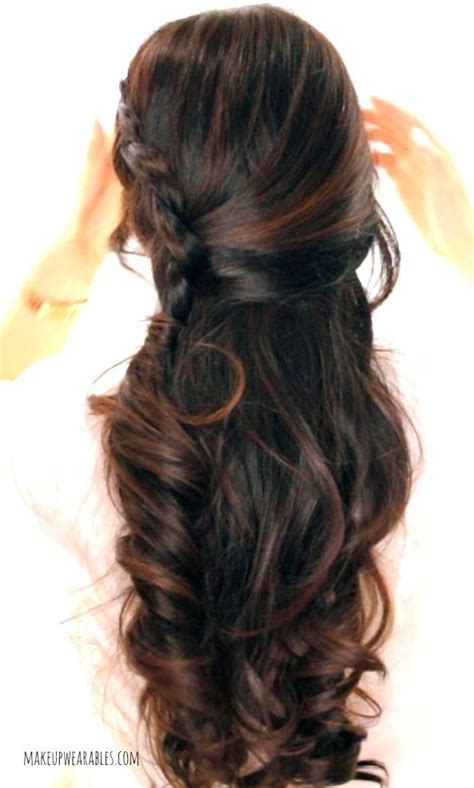 curly hairstyles half up half down for school 17 best images about braided down hairstyles c on
