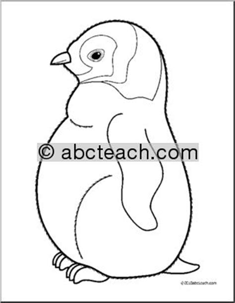 penguin chick coloring page clip art baby animals penguin chick coloring page