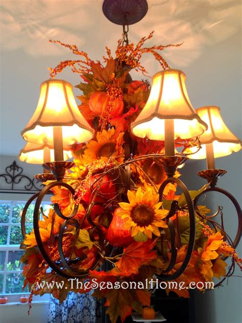 fall chandelier decorations 3 chandelier ideas for fall thanksgiving