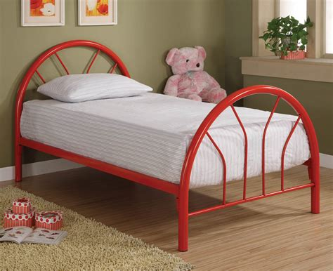 kids twin size beds red metal twin bed frame
