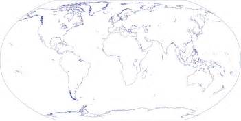 Blank Map Of Earth by World Outline Map