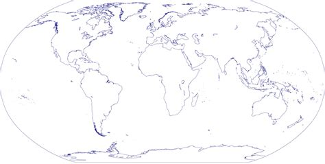 blank map of the earth