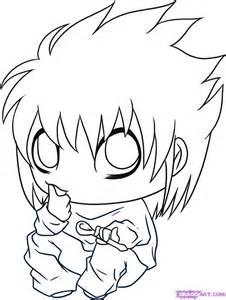 How To Draw A L by How To Draw Chibi L Step By Step Chibis Draw Chibi