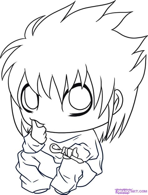 step by step death note near hairstyle near death note chibi coloring pages coloring pages