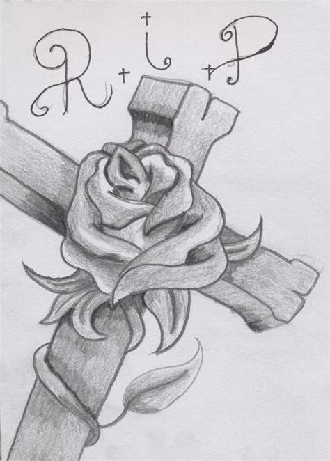 roses and cross tattoos designs collection of 25 cross with banner design