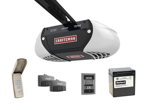 Garage Door Openers Sears Craftsman 54918 3 4 Horsepower Diehard 174 Battery Backup Ultra Belt Drive Garage Door Opener