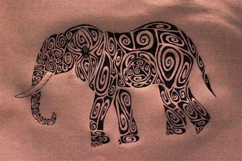 elephant tribal tattoos elephant images designs