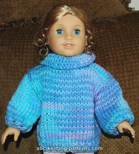 doll cardigan knitting pattern abc knitting patterns american doll basic sweater
