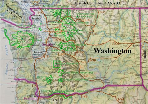 washing state map washington state road and recreation map washington