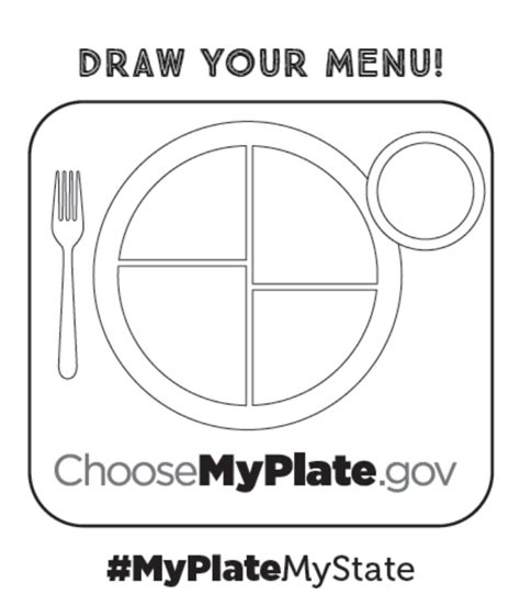 Myplate Mystate Toolkit For Teachers Choose Myplate My Plate Template