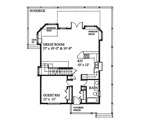 vacation home floor plans laurens cove vacation home plan 080d 0013 house plans and more