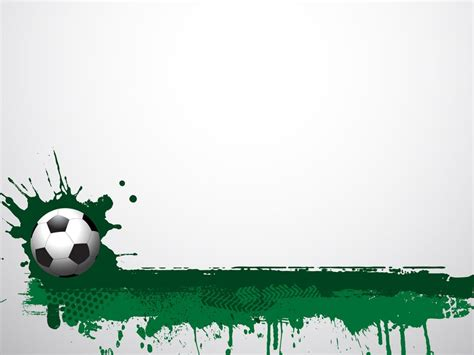 football themed powerpoint 2007 football grunge ppt backgrounds green sports templates