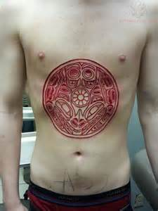stomach scarification tattoo for men