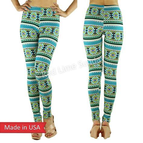 mint pattern leggings mint green aztec tribal ethnic pattern cotton print