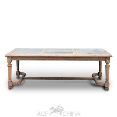 Granite Inlay Dining Table Reclaimed Pinewood Dining Table With Inlay Top Acf China