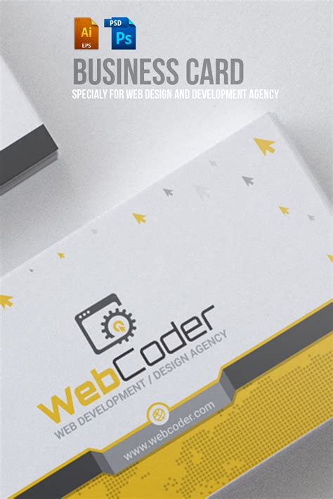 business card design website template business card template web developer images card design