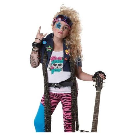 80s rock star costume girls kids girls 80s glam rock pop star singer halloween costume