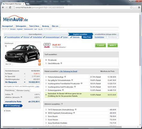 Mein Auto De Leasing by Meinauto De Neuwagen Top Preise Rabatte Beim Autokauf