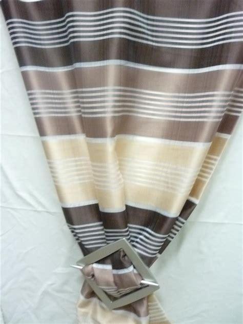 vorhang beige blickdicht deko stoff gardine vorhang gestreift beige braun creme