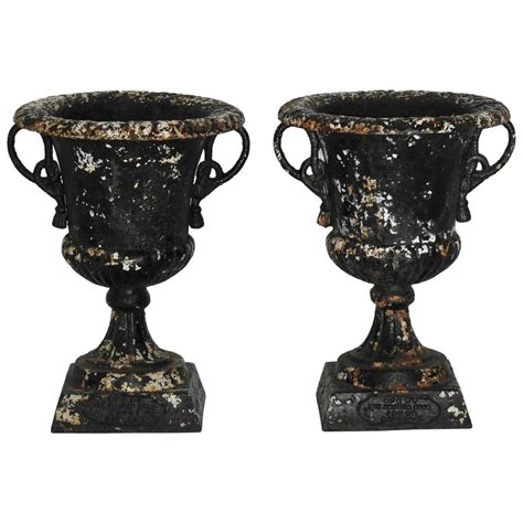 Lead Planters For Sale by Pair Of 19th Century Lead Planters With Rope Designed
