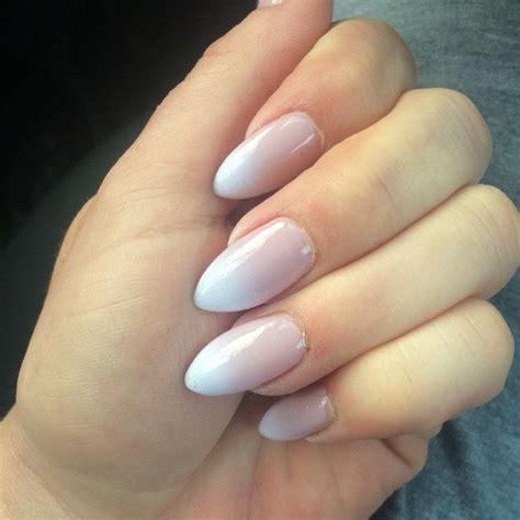 almond nails look of almond nails and ombr 233 french tip almond shaped nails makeup hair